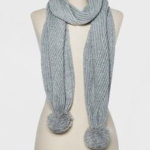 NWT A New Day- ribbed poms scarf- gray